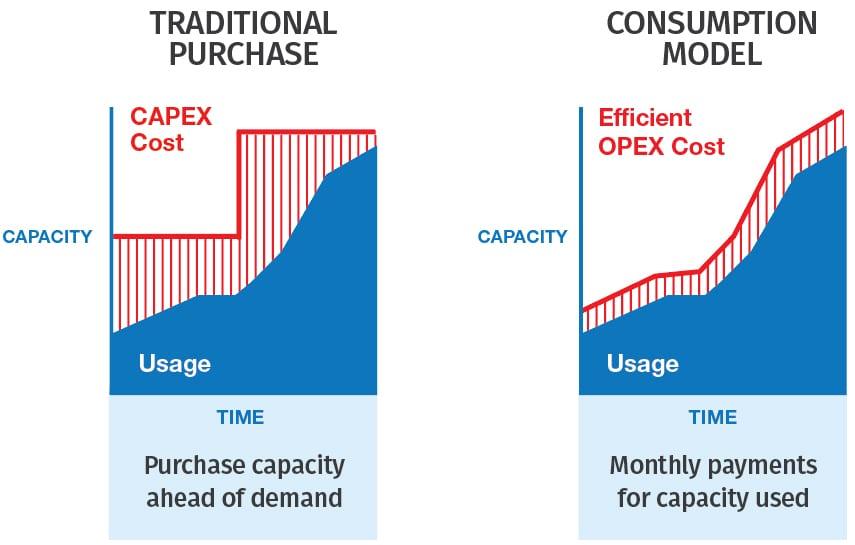 storage purchase vs consumption model