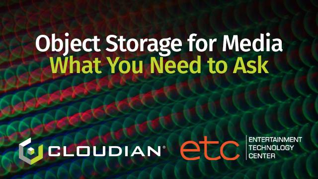 object storage media workflows